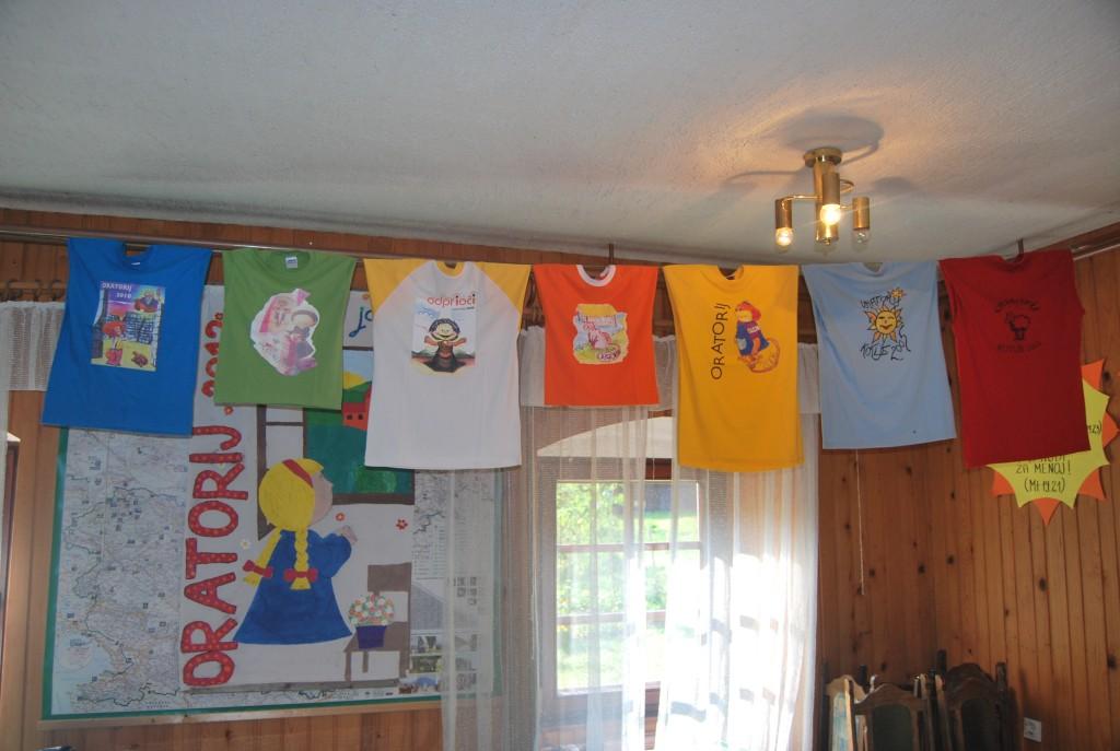 Oratorijske majice od prvega do zadnjega oratorija