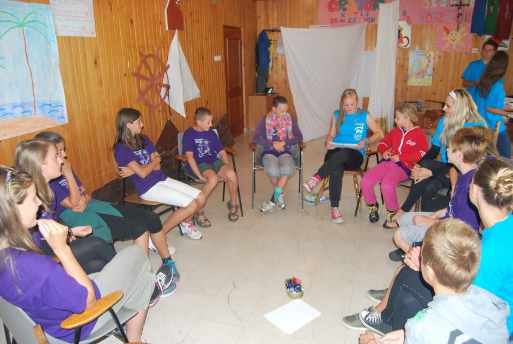 Pri katehezi so otroci aktivno sodelovali
