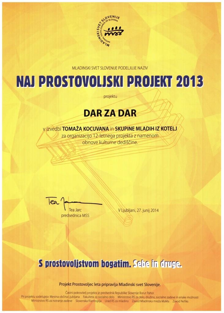 Priznanje naj projekt 2013-1
