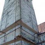 Žalosten izgled zvonika pred obnovo