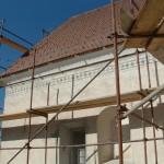 Južni del fasade med obnovo