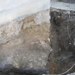 Temelj pod južno kapelo sega globoko
